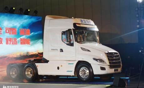 国内首款高端长头重卡上市,配潍柴发动机,未来还可实现自动驾驶