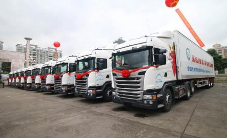 大手笔 珠海某公司签订500台斯堪尼亚进口卡车订单