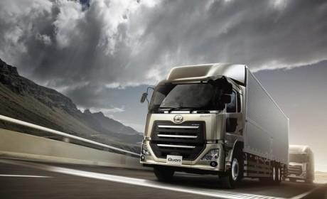 东风天龙原型车 日本UD卡车再次改款可以媲美沃尔沃