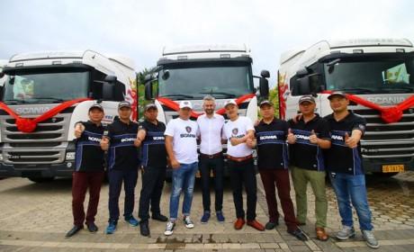 做越南跨境物流,云南客户采购50辆斯堪尼亚进口卡车
