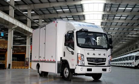 满载续航超过200公里,华菱星马纯电动厢式车正式推向市场