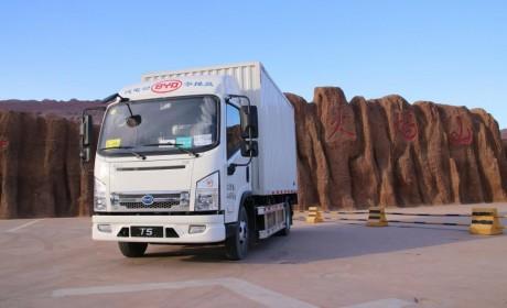 真金不怕火炼,比亚迪T5A纯电动卡车挑战吐鲁番高温测试