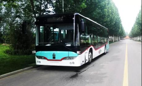 豪沃客车10.5米无人驾驶纯电动全承载智能城市客车顺利下线