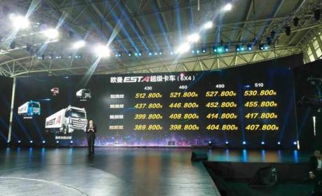 顶配超53万售价依然订单火爆?欧曼超级卡车上海上市