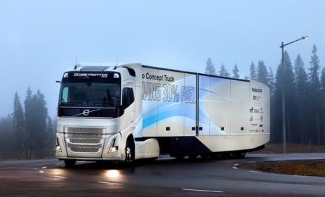 首次应用长途卡车?沃尔沃最新概念卡车开测混合动力系统