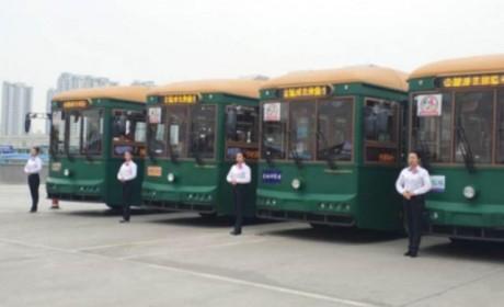 复古上世纪初有轨电车样式,银隆新能源铛铛公交车即将在兰州上线