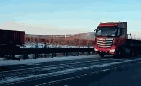 零下40度也能跑? 福田欧曼发布超级卡车黑河实验报告