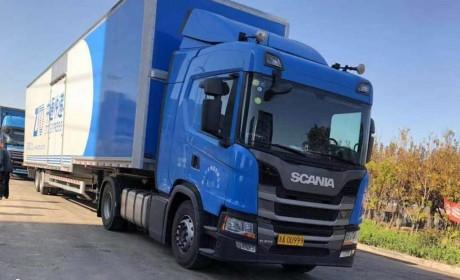 1300升容量油箱+液力缓速器,中通购入的低配版新款斯堪尼亚实拍