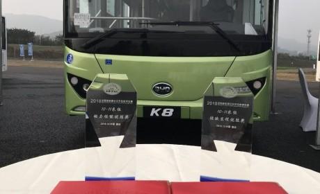 彰显超强产品力,比亚迪K8斩获首届新能源公交车性能评价赛两项大奖