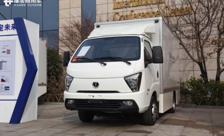 货箱11方的小卡车,城市内自由穿行,缔途EX纯电微卡实拍