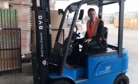 宝马、通用都看中的比亚迪电动叉车,下个月将批量交付澳洲