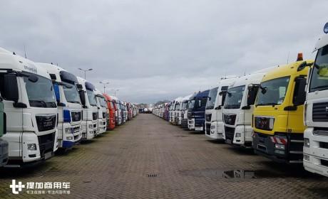 高端卡车白菜价,东风小康实力抢镜,带您逛欧洲本土某大型二手卡车市场