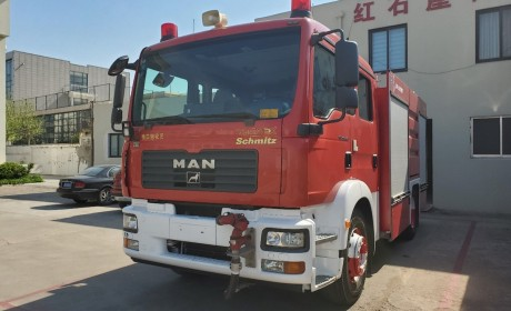 奥地利斯太尔工厂生产,带您见识一辆服役超过10年的曼恩TGM消防车