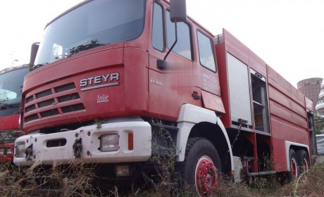 看了那么多的国产斯太尔,原装进口的见过吗?退役的斯太尔NSK消防车实拍