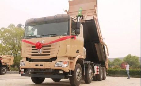 清洁能源车辆的首选品牌,中集联合卡车LNG交付淮南用户