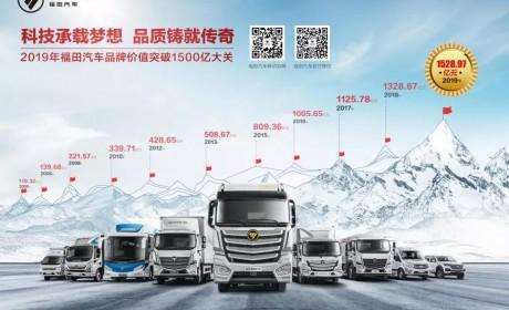 品牌价值1528亿元,福田汽车连续15年位居商用车行业第一
