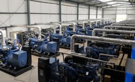 壮观!玉柴连片发电机组在新疆成功并网
