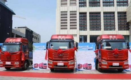当场订购120台!解放J6P载货车火爆畅销安徽毫州