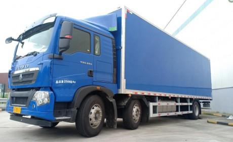 能多拉也能快跑,带您见识重汽专为快递打造的豪沃T5G三轴载货车
