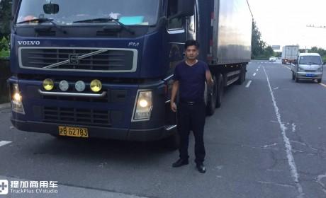 快递公司的进口卡车有多能跑?300万公里很常见,这台沃尔沃就跑了318万多公里