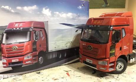 卡车模型也评测,带你看看解放J6P1:24模型的做工