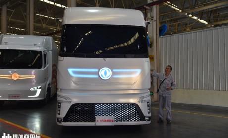 东风天龙概念卡车来了,内饰很未来,油电混合动力还能省油15%