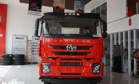 这两年卖得很火的砂石料运输牵引车,500马力的红岩杰狮M500实拍