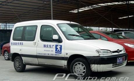 在国内很少见的VAN式货车,法国标致Partner实拍