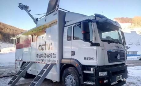 中国重汽转播车与进口车并驾齐驱,助力第二届进博会