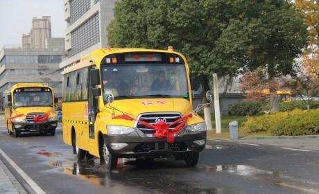 安凯校车批量交付黑山县,高品质护航学童安全出行