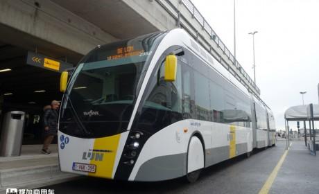 这个长度的公交,全世界在运营的没有多少,比利时体验24米BRT公交