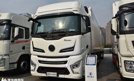德龙X6000中置轴载货车亮相,电子手刹加入,刷新载货车最高配置