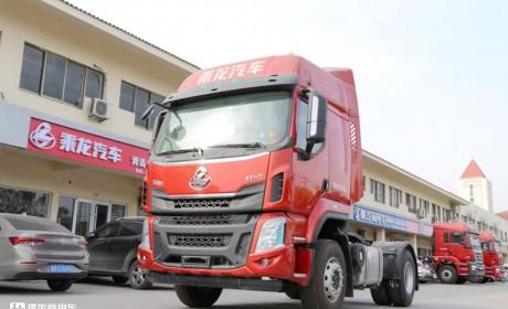 柳汽乘龙H5国六牵引车实拍,配玉柴发动机,4X2配置价格25万出头