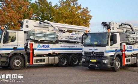 上世纪90年代国内泵车的主力车型,奔驰AK载货车底盘的31米泵车实拍
