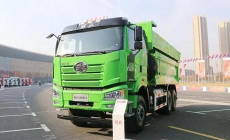 国六LNG动力的解放J6P城市渣土车,不惧环保严、油价贵!