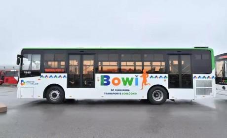 安凯天然气公交车驶入墨西哥,助力当地市民绿色出行