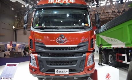 玉柴6升发动机,自重轻可装10吨货,国六版乘龙H5绿通载货车实拍