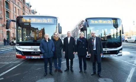 曼恩向德国汉堡交付首批纯电巴士