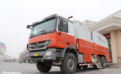 奔驰技术走进国内的第一批卡车,实拍在油田服役近20年的北奔卡车