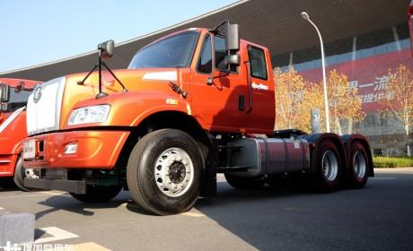 车高仅为2.72米,专为过限高杆打造,解放安捷超低顶长头卡车实拍