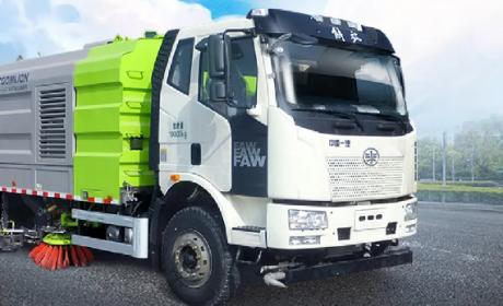 国六排放、12项功能,解放J6L洗扫车助力城市洁净生活