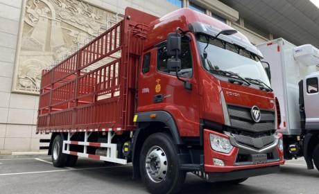 福田新发布的载货车,欧航配置怎么样?实拍6.8米仓栅载货车带您好好看看