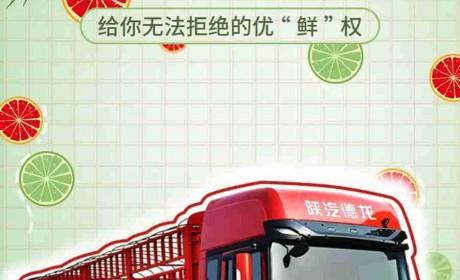 """德龙X3000绿通版载货车,给你无法拒绝的优""""鲜""""权!"""