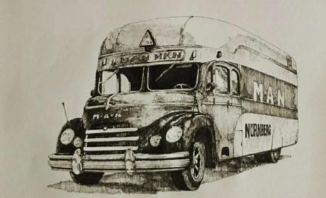 纯手绘 · 笔墨间,带您看百年曼恩的经典车型