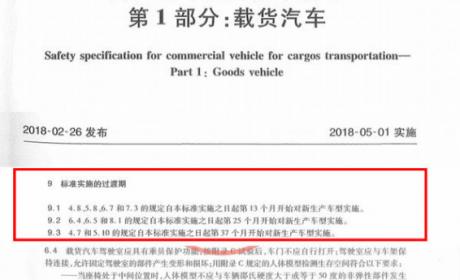 中重卡新规将实施,须配备50鞍座,车速不超过89km/h