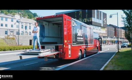 高端客车也能拉货?豪华座椅加大货箱,带您看沃尔沃客货混装巴士