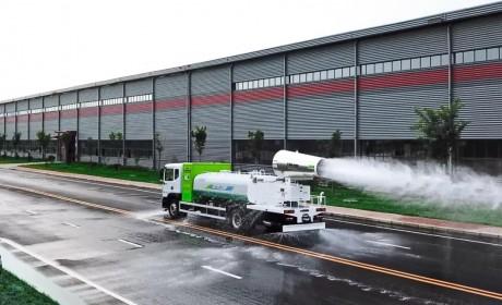 银隆新能源18吨多功能抑尘车上线,让城市的秋天不再扬尘