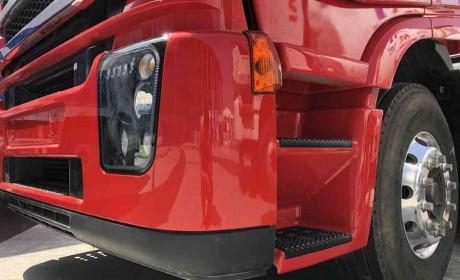 杰狮AMT重卡+智能半挂,适合粮食、砂石料运输,卸车最快40秒