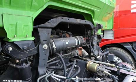 上柴440马力燃气机,公路渣土车首选车型,杰狮C6自卸车评测