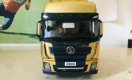 坐拥陕汽三大件,出口版德龙X3000卡车模型评测,金色涂装真好看